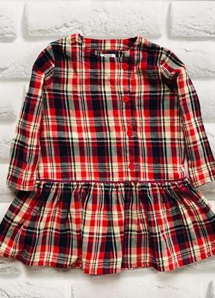 Mamas&papas  стильное платье на девочку 18 мес