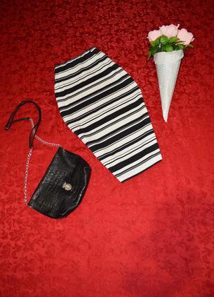 Шикарная юбка резинка карандаш миди от зара