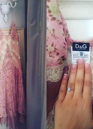 Шелковое платье dg/ dolce gabbana
