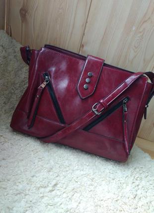 Шикарная сумка в стиле zara, hermes, atmosphere, красного, винного, марсала, цвета,кожа