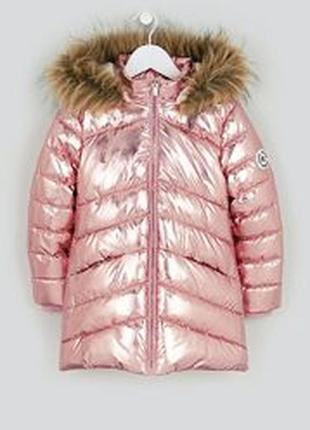 Шикарное зимнее пальто-парка на шерпе! matalan!140-146-152
