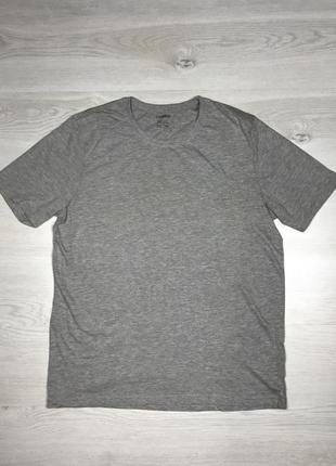 Мужская базовая серая футболка livergy новая