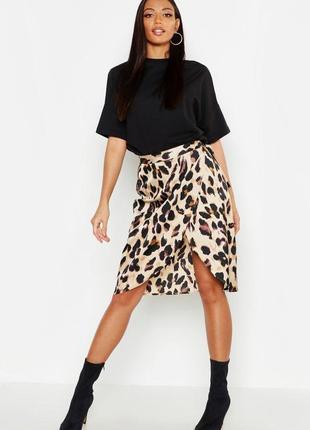 Мега крутая и супер эффектная юбка в хищный принт лео, р.10/38-м ...👠❤️💄