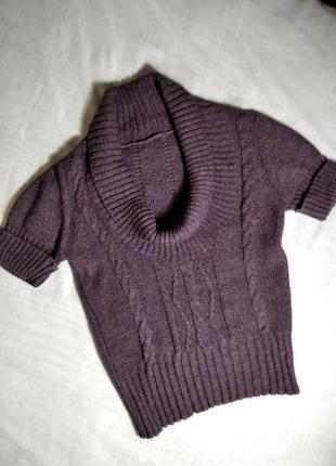 Шерстяной пуловер гольф свитер светр джемпер с воротником хомут италия