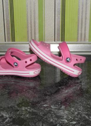 Кроксы босоножками девочке - crocs 9 - 26 размер - стелька - 16 см.
