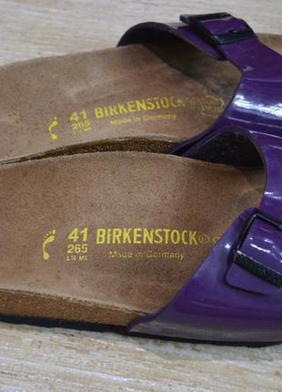 Birkenstock 41/5-42р сандалии шлепанцы вьетнамки оригинал germany