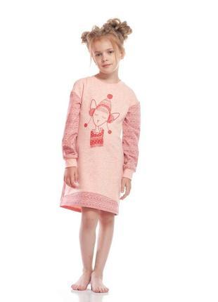 Детская ночная рубашка утепленная ellen 015/001