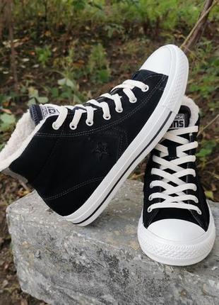 Оригинал кожаные кроссовки кеды converse all star 39 р. унисекс