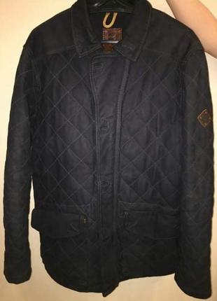Куртка timberland кожа стеганая теплая