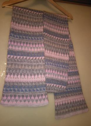 Двойной шерстяной шарф в пастельных тонах john lewis (75% шерсть)