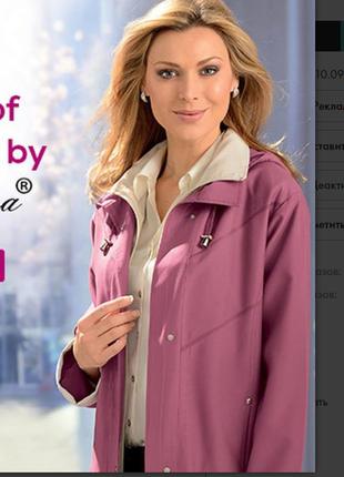 Брендовая демисезонная куртка на молнии с капюшоном и карманами gabriella vicenza этикетка
