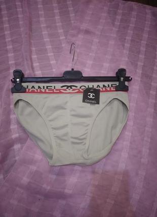 Плавки бесшовное белье трусы с логотипом бренда стальной цвет