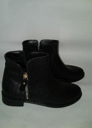 Натуральная кожа новые ботинки 37 размера (модель 1014)