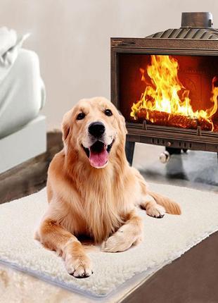 Коврик-подстилка для животных теплый самонагревающийся 90 на 60 см