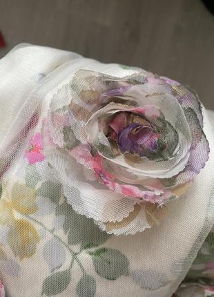 Фатиновое платье с 3d цветами monsoon
