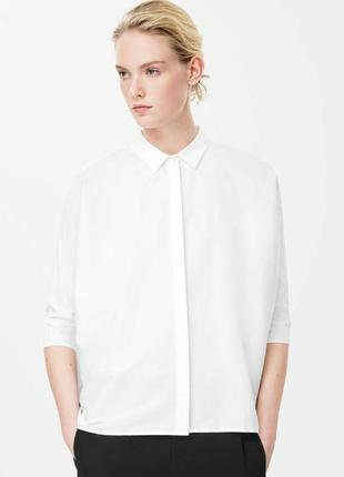 Белая рубашка оверсайз cos