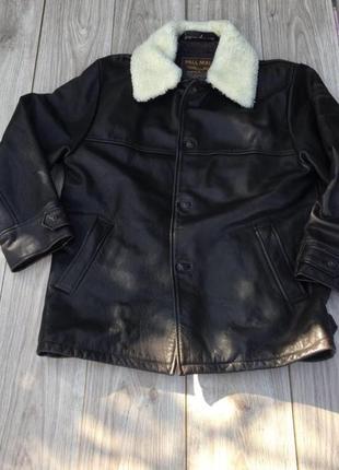 Авиатор куртка кожаная натуральная pme pall mall кожа zara h&m harley davidson бомбер