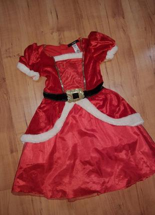 Новогоднее платье санта клаус дед мороз