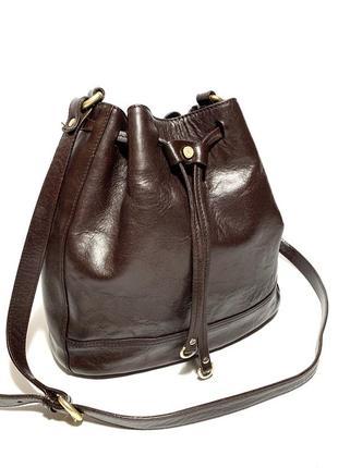 Кожаная сумка massimo dutti 100% натуральная кожа
