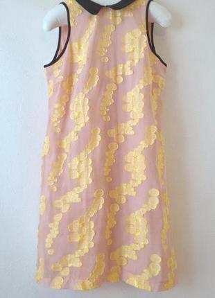 -50% на вторую вещь шифоновое платье пудрового цвета с набивным рисунком 36 размер