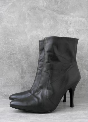 """Стильные кожаные ботильоны """"new look"""". размер uk 6/ eur 39."""
