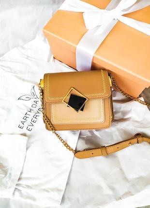 Распродажа. сумка через плечо, бежевая сумка на длинном ремне