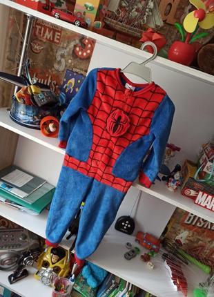 Плюшевая пижама marvel spiderman человек паук на 2-3 года, 92-98 см