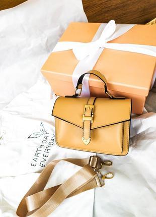 Распродажа. женская сумка через плечо, бежевая сумка на длинной ручке
