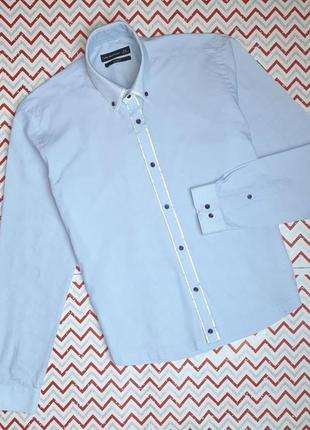 😉1+1=3 фирменная приталенная рубашка сорочка cedarwood state, размер 44 - 46