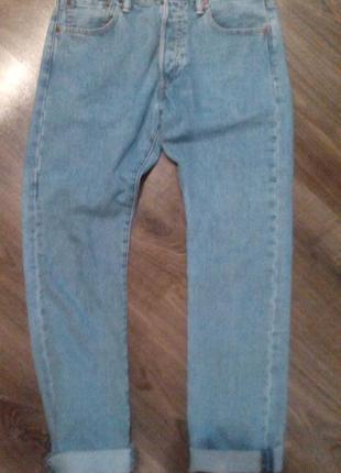 Джинсы бойфренды ,высокая посадка, mom jeans, levis w30 l32
