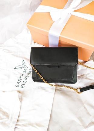 Распродажа.женская чумка через плечо, черная сумка на длинной ручке