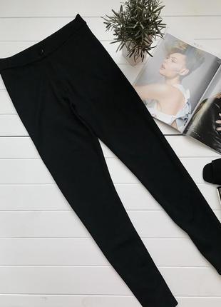 Новые черные скинни штаны лосины леггинсы высокая посадка размер 38 м m 10