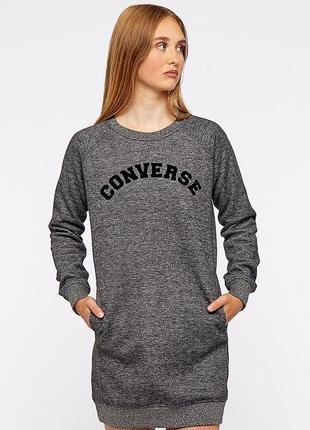 Крутой удлинённый свитшот/ платье converse оригинал