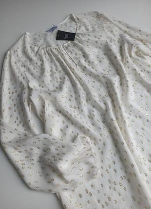 Красивейшая нежная блуза молочного цвета с длинным рукавом