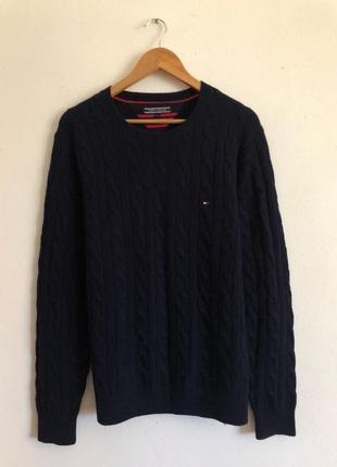 Шерстяной свитер кофта свитшот tommy hilfiger