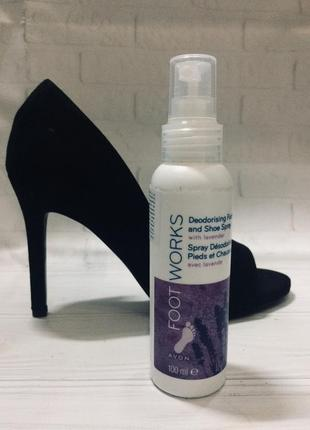 Avon footworks спрей для ног
