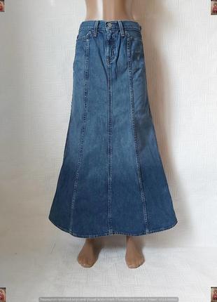 Фирменная gap джинсовая юбка в пол/длинная юбка в синем цвете, размер с-м