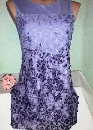 Красивое платье- туника в бабочки ,40-46раз,next