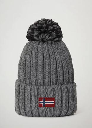 Оригинальная шапка napapijri semiury wom 1 med grey mel (np0a4epd160)