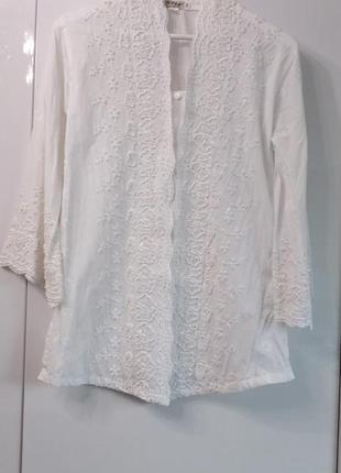 Step bkk таиланд р.44-46-48 х/б блуза вышитая бисером блузка вышиванка