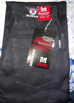Новые мужские джинсы чёрные mawens jeans есть размеры
