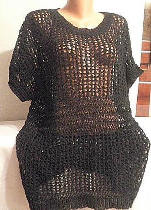 Туника платье кольчуга вязаная