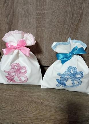 Набор мешочков для конкурса мальчик-девочка.