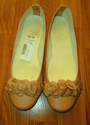 Красивые удобные балетки clarks кожа оригинал размер 38-38,5
