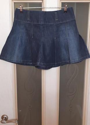 Фирменная джинсовая мини юбка nextджинсовая юбка