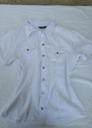 Üz-sa белая рубашка с коротким рукавом стиль сафари jil sander хлопок