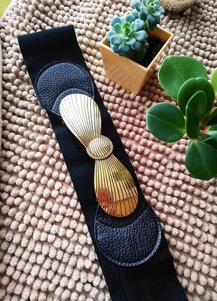 Пояс красивый аксессуар к платью шубе ремінь ремень резинка