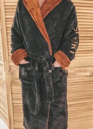 Стильный махровый халат