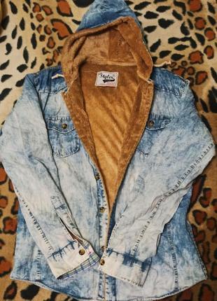 Толстовка, ветровка, куртка, styler, с мехом