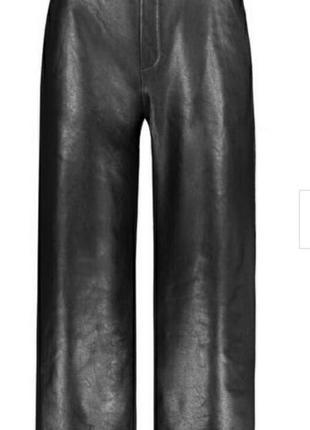 Черные стильные кожаные ( кож.зам) кюлоты штаны next petite